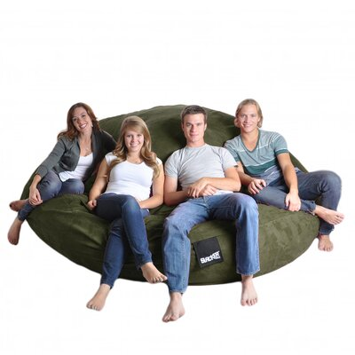 Bean Bag Sofa Upholstery: Olive Green, Size: Triple Extra Large