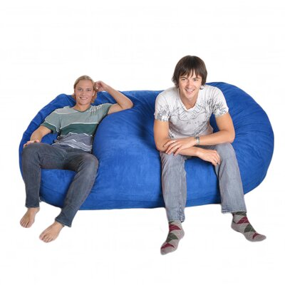 Bean Bag Sofa Upholstery: Royal Blue, Size: Triple Extra Large