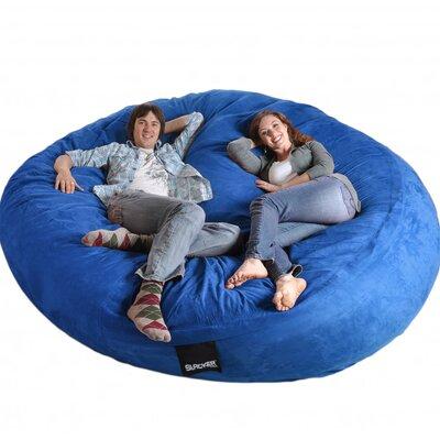 Bean Bag Sofa Upholstery: Royal Blue, Size: Triple Extra Large
