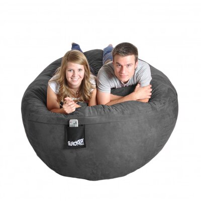 Bean Bag Sofa Upholstery: Charcoal Grey, Size: Extra Large
