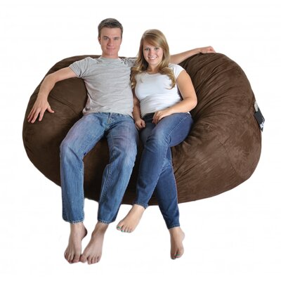 Bean Bag Sofa Upholstery: Chocolate Brown, Size: Extra Large