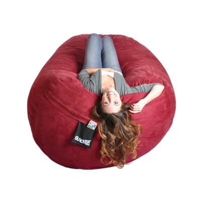 Bean Bag Sofa Size: Extra Large, Upholstery: Cinnabar Red