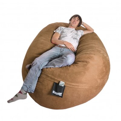 Bean Bag Sofa Upholstery: Earth Brown, Size: Extra Large