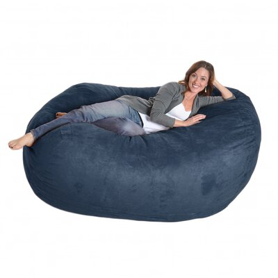 Bean Bag Sofa Upholstery: Purple, Size: Triple Extra Large