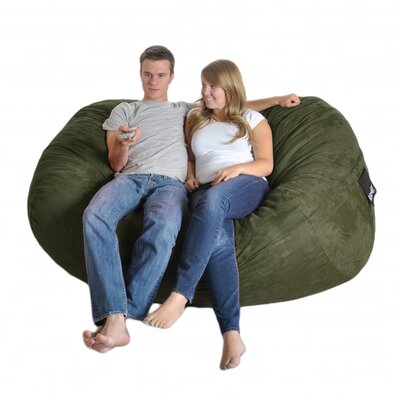 Bean Bag Sofa Size: Extra Large, Upholstery: Olive Green