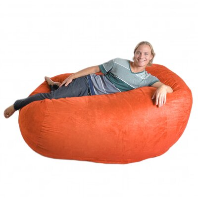 Bean Bag Sofa Upholstery: Pumpkin Orange, Size: Extra Large