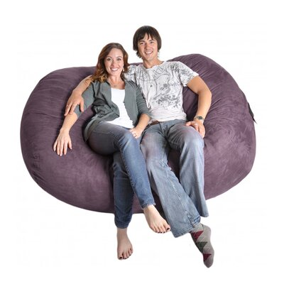 Bean Bag Sofa Upholstery: Purple, Size: Extra Large