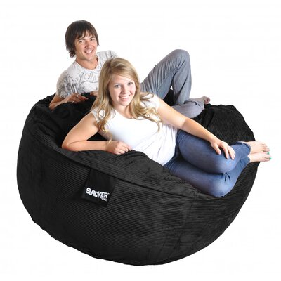 Bean Bag Sofa Upholstery: Black, Size: Extra Large