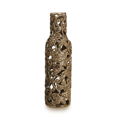 Rustic Brown Grapes Ceramic Cork Holder