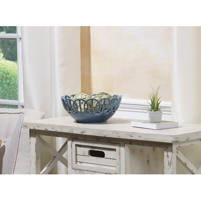 Teele Circle Cutout Ceramic Decorative Bowl