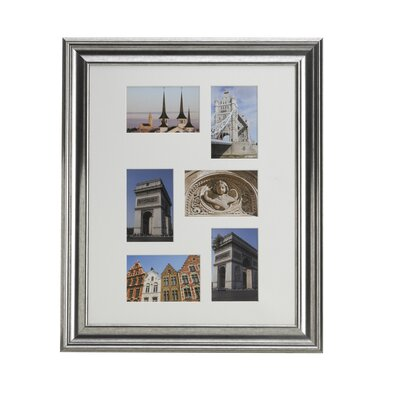 6 Opening Matted Plastic Collage Picture Frame Color: Champagne