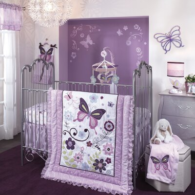 Butterfly Lane 5 Piece Crib Bedding Set 551005V