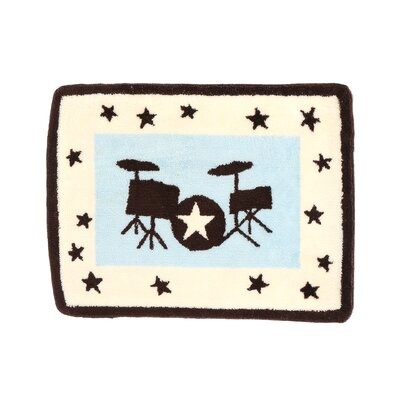 Rock N Roll Kids Rug Size: 40 x 30