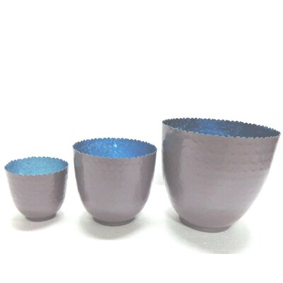 3 Piece Votive Set Color: Blue