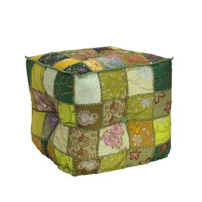 Square Patchwork Pouf