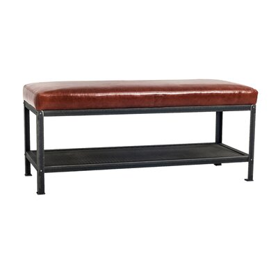 Warehouse Leather Bedroom Bench