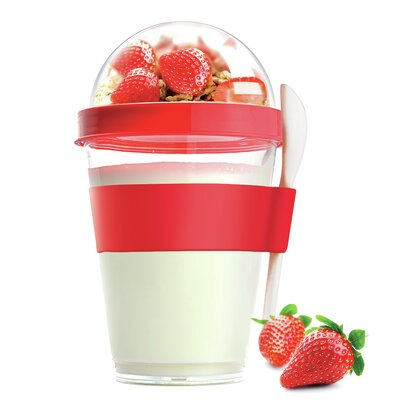 12 Oz. Yogurt Cup Storage Container Color: Red YO2GOSR