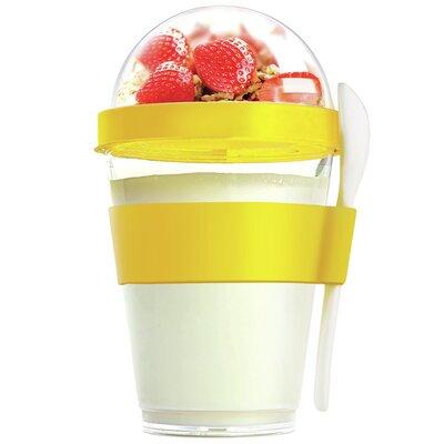 12 Oz. Yogurt Cup Storage Container Color: Yellow YO2GOSY