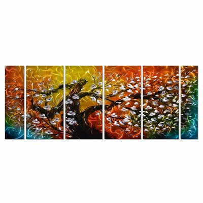 """Gigantic Tree of Life Metal Wall Art Decor, Oversize Colourful 3D Artwork for Modern, 9-Panels Measures 86"""" x 32"""" F4F53C2A1C6B4BBCAC7BC4BD46716025"""