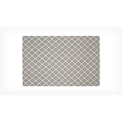Corfu Hand Woven Wool Gray/White Area Rug