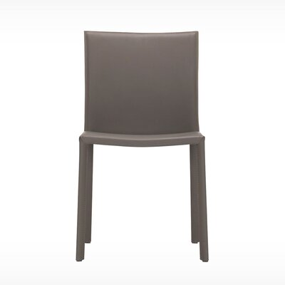 Acel Genuine Leather Upholstered Dining Chair