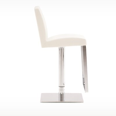 Adjustable Height Bar Stool Finish: White