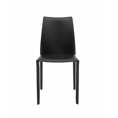 High Back Side Chair (Set of 2) Finish: Black