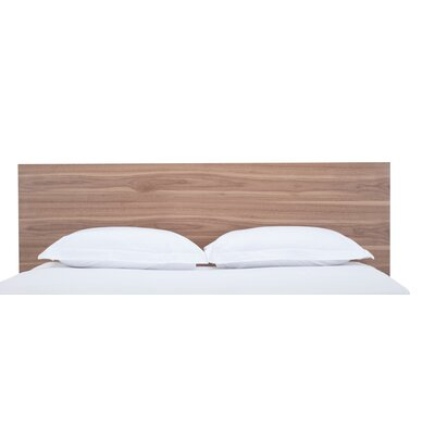 Simple Panel Headboard Size: Full, Color: Walnut