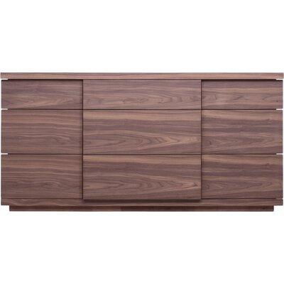 Boom 9 Drawer Dresser Color: Walnut