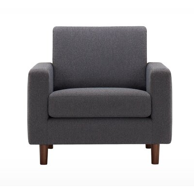 Oskar Armchair Finish: Walnut, Upholstery: Klein Wheatgrass