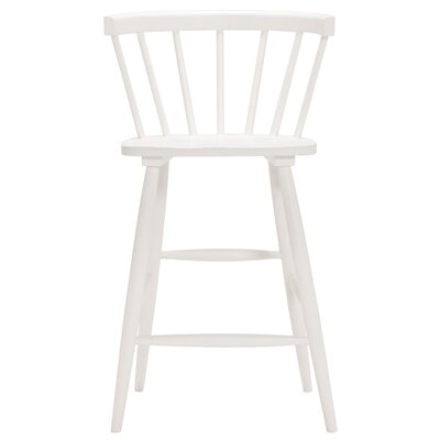 Lyla 25.5 Bar Stool (Set of 2) Finish: White