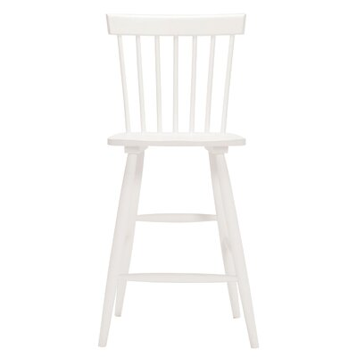 Lyla Side Bar Stool (Set of 2) Upholstery: White