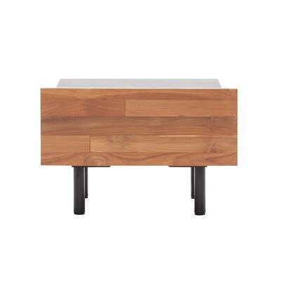 Reclaimed Teak 1 Drawer Nightstand Color: Grey