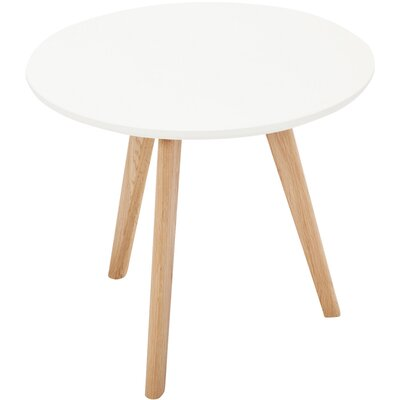 Tate End Table Color: White /Oak