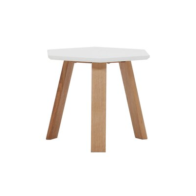 Haptic End Table Color: White