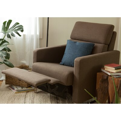 Lawrence Recliner Upholstery: Mila Grey