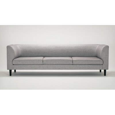 Replay Chesterfield Sofa Body Fabric: Key Largo Pumice, Leg Color: Walnut Straight Tapered