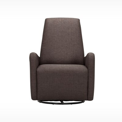 Karbon Swivel Arm Chair Upholstery: Klein Chocolate