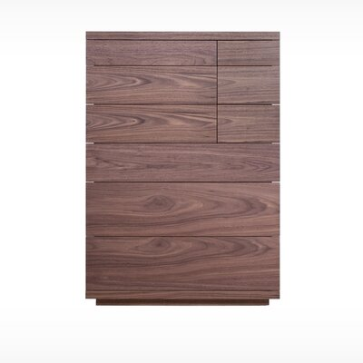 Boom 6 Drawer Chest Color: Walnut