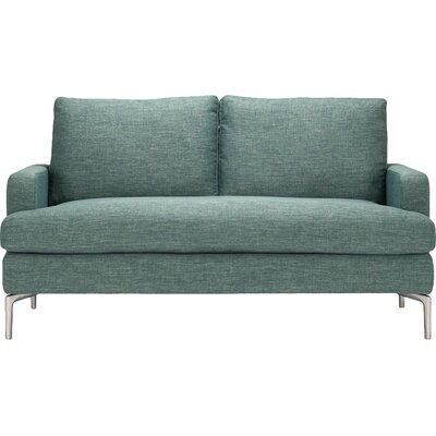 Eve Loveseat Upholstery: Mila Grey
