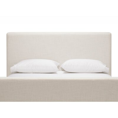 Saga Queen Upholstered Panel Headboard Body Fabric: Mila Silver