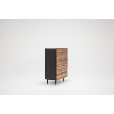 Teak 5 Drawer Chest Color: Charcoal
