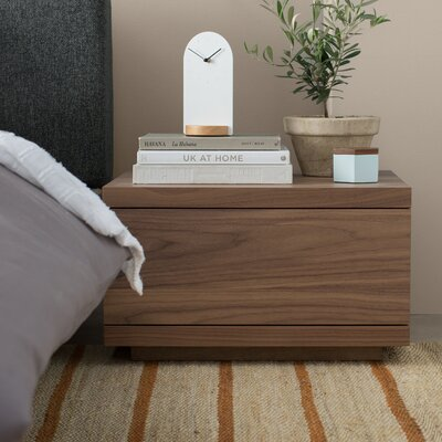 Boom 1 Drawer Nightstand Color: Walnut