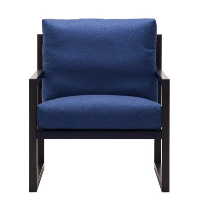 Chiara Armchair Body Fabric: Lana Dark Blue