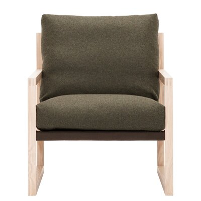 Chiara Armchair Body Fabric: Lana Olive Green