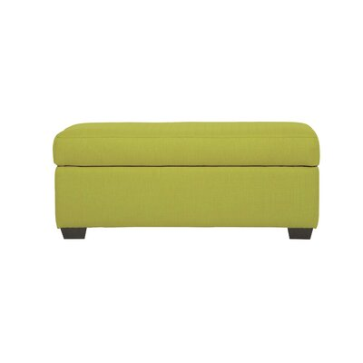 Stella Storage Ottoman Upholstery: Key Largo Denim, Leg Finish: Onyx