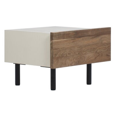 Reclaimed Teak 1 Drawer Nightstand Color: Almond