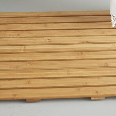Natural Bamboo Wood Nonskid Bath Mat