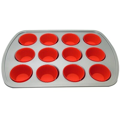 LCM Home Fashions, Inc. 12 Muffin Baking Pan with 12 Cup GA003