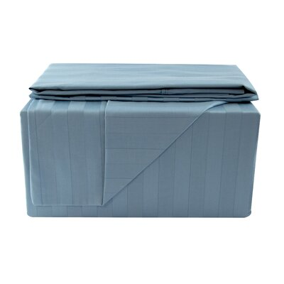 600 Thread Count Sheet Set Color: Blue, Size: Queen